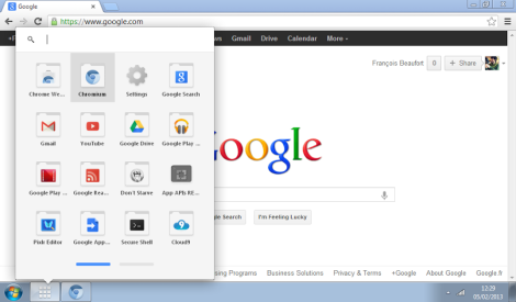 Launcher de Chrome OS
